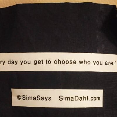 Every day you get to choose who you are. cocktail napkin quote