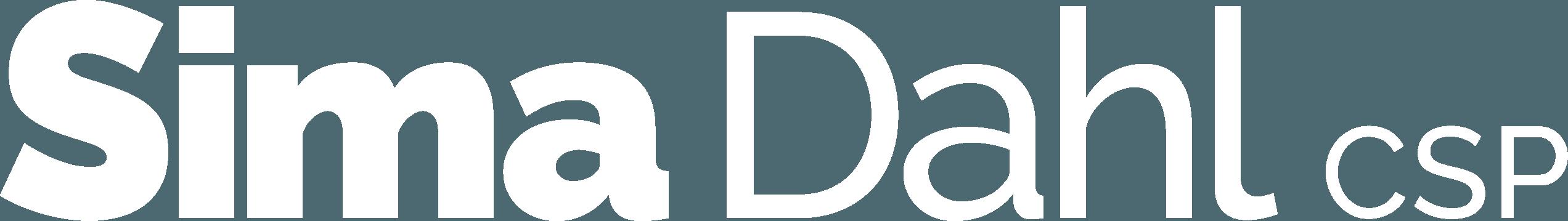 Sima Dahl white logo
